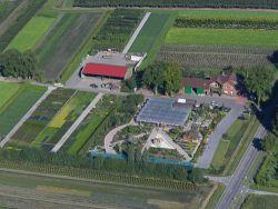 Luftbild der Baumschule Terbrack